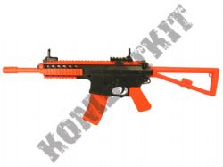 Bison 301 Tactical Combat Rifle Airsoft BB Gun Black and Orange